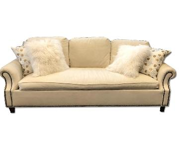 Hickory Chair 3 Seater Sofa w/ Nailheads