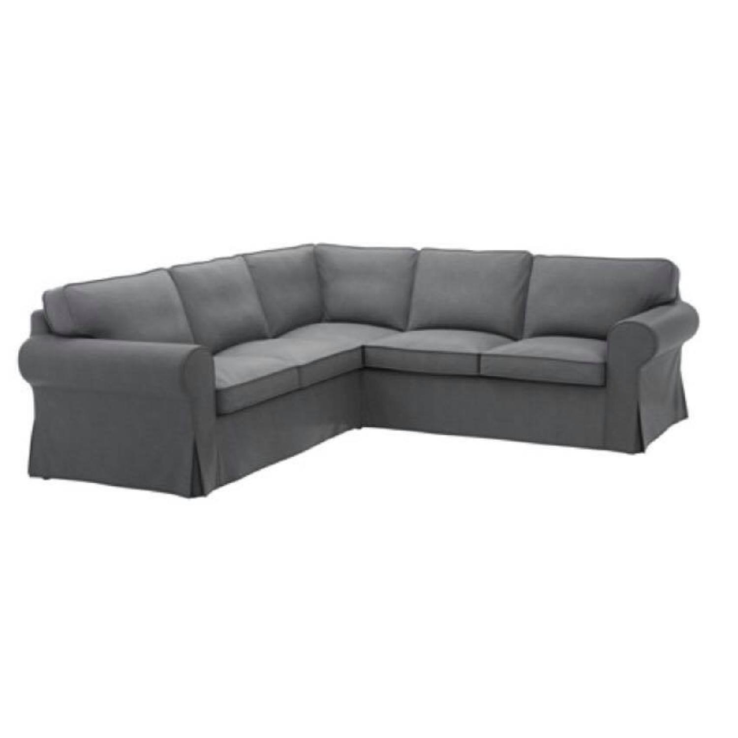 office couch ikea. Ikea Grey 5-Seat Corner Sectional Couch Office