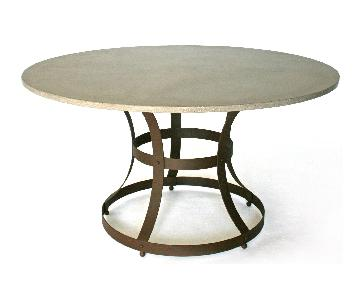 James Dewulf Industrial Round Dining Table