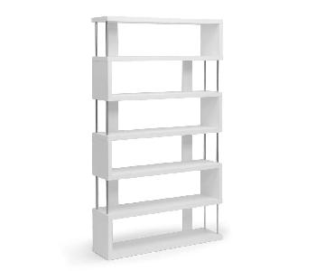 Baxton Studio Barnes 6-Shelf Modern Bookcase