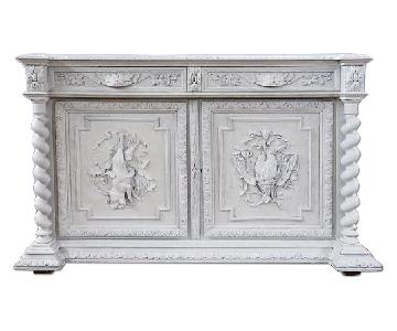 Antique French Country/Jacobean Style Buffet Sideboard