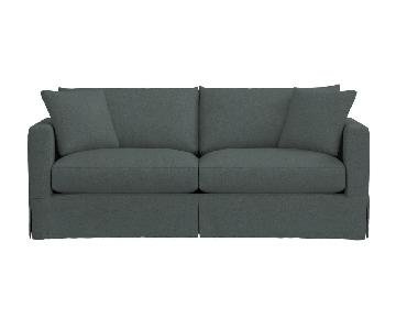 Crate & Barrel Willow Blue Slipcovered Sofa