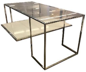 Glass & Chrome Modern Glass Table