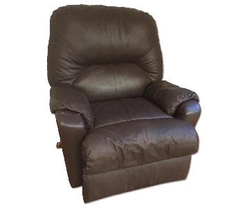 Stratolounger Brown Leather Reclining Chair