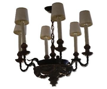 Black 6 Light Chandelier