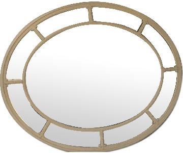 White Gessoed Oval Mirror