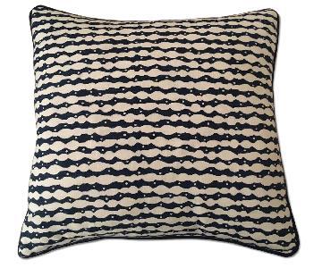 Dwell Studio Blue & White Patterned Pillow