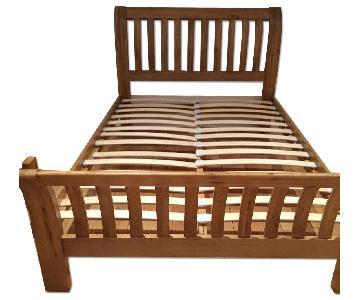 Solid European Oak Bed Frame