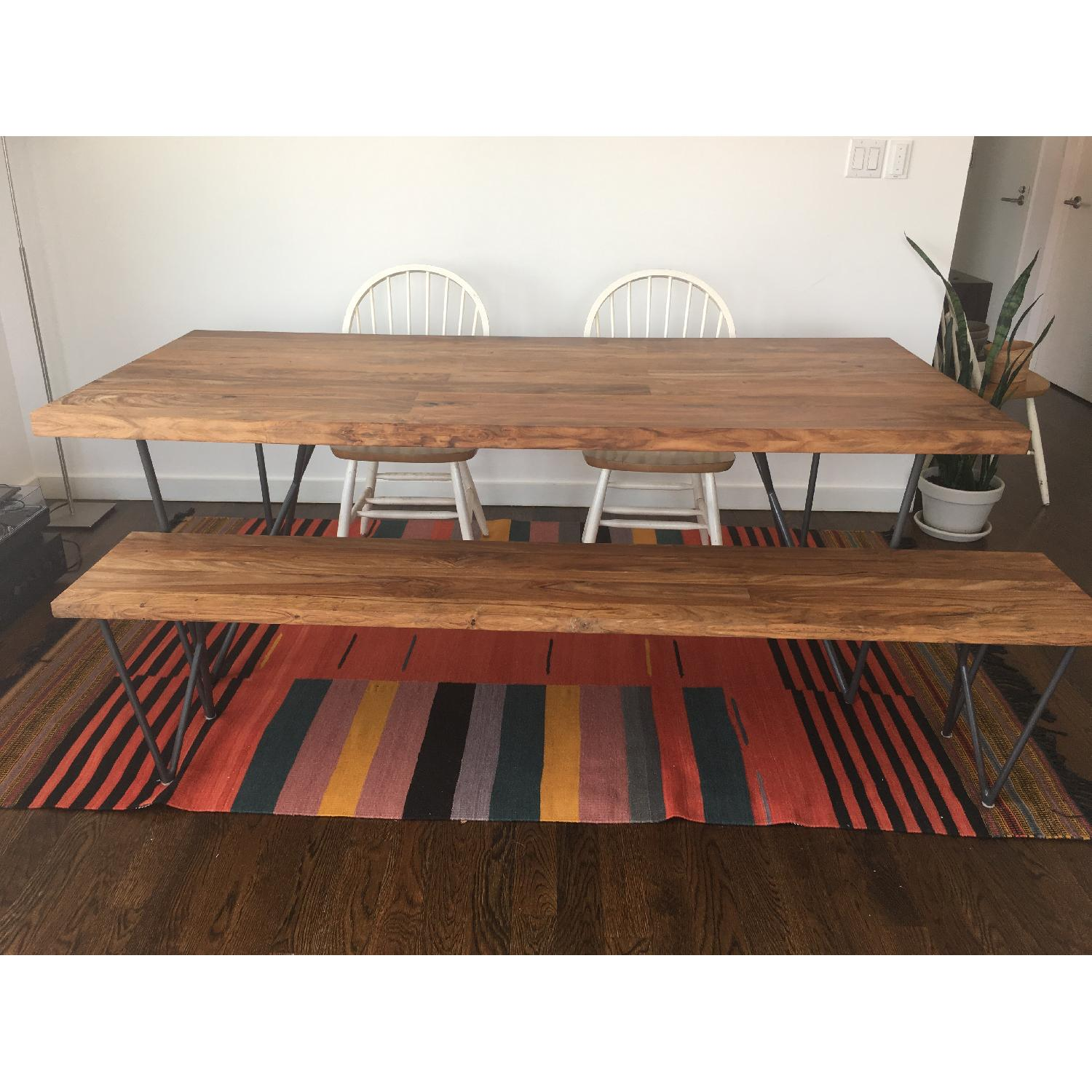 ... CB2 Dylan Solid Wood Dining Table 1 ...