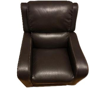 Jennifer Convertibles Brown Leather Recliner