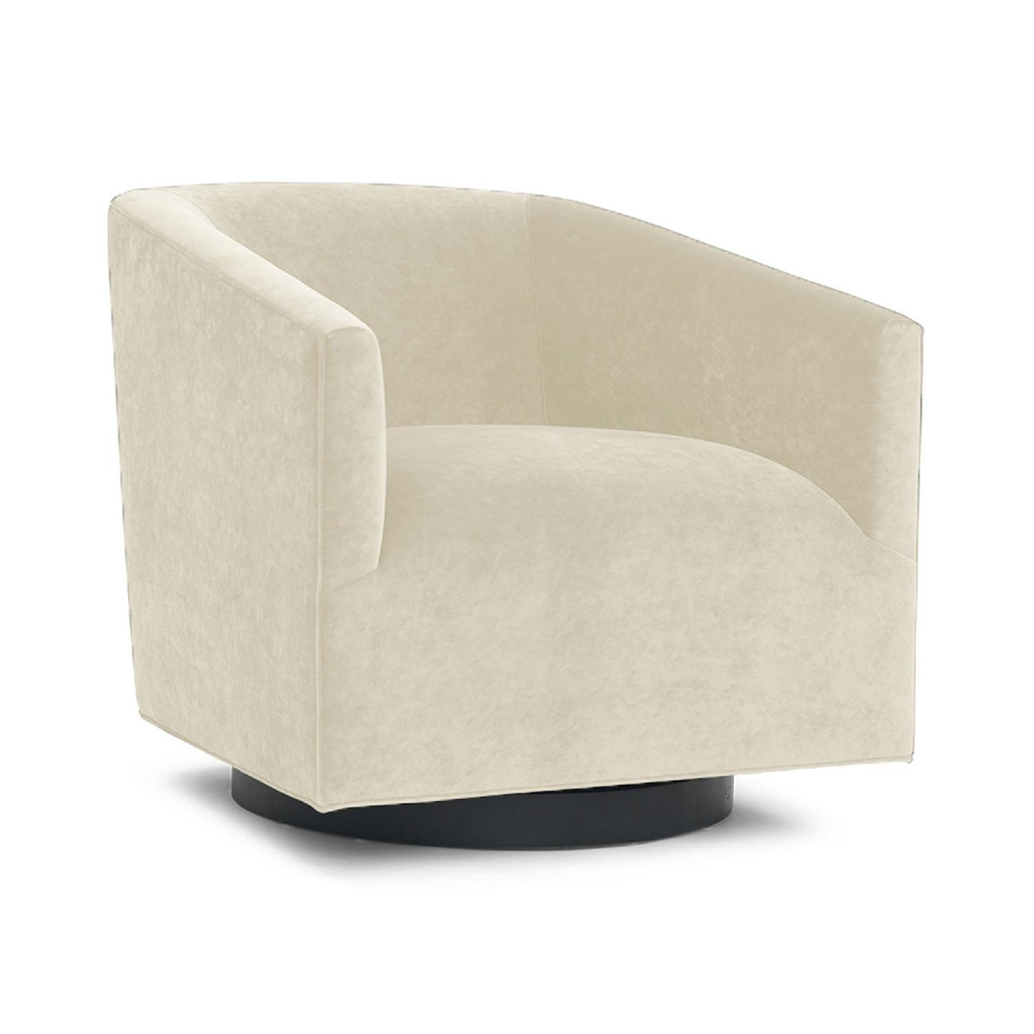 Mitchell Gold + Bob Williams Cooper Swivel Chair In Natural ...