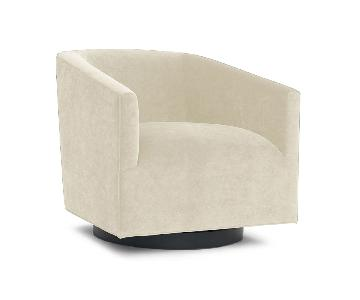 Mitchell Gold + Bob Williams Cooper Swivel Chair in Natural