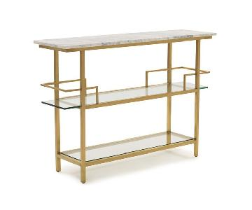 Mitchell Gold + Bob Williams Marquis Bar Cart in Yellow