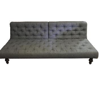 Crate & Barrel Tufted Sleeper Sofa