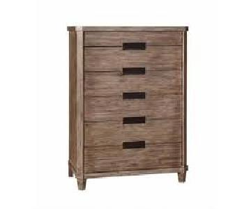 Modern Vintage Smoky Acacia Chest