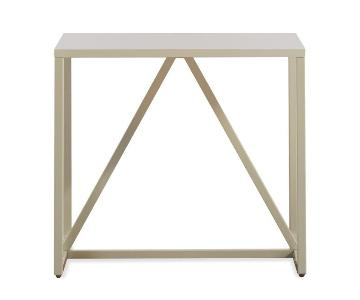 Blu Dot Ivory Lacquer Side Table