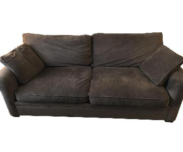 Crate & Barrel Dark Brown Queen Sleeper Sofa