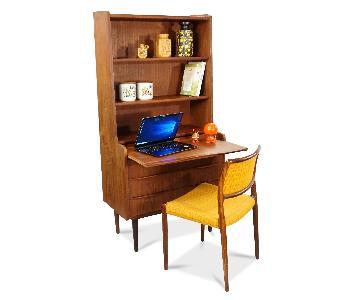 Vintage Danish Mid Century Teak Bookcase