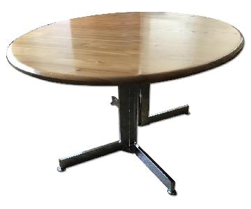 Extendable Cherry Wood Dining Table