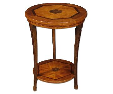 Italian Side Table in Inlaid Wood