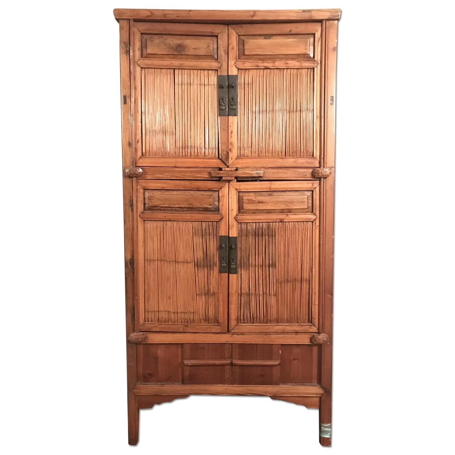 Vintage 18th Century Large Chinese Armoire/Wardrobe ...