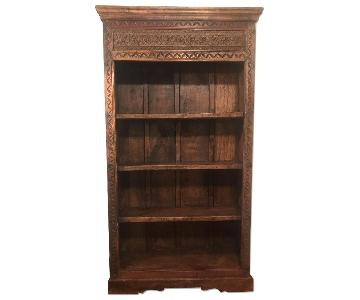Antique Hand Carved Bookcase