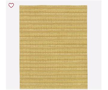 West Elm Stitched Mix Sweater Rug in Horseradish