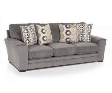 Bob's Grey Microfiber Sofa
