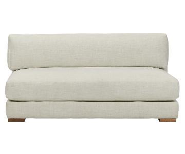 CB2 Piazza Steel Grey Apartment Sofa
