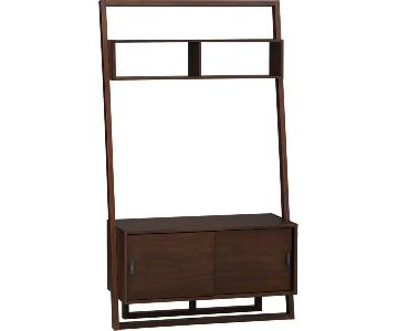 Crate & Barrel Sloane Java Leaning Media Stand