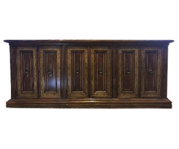 Antique Wood Credenza