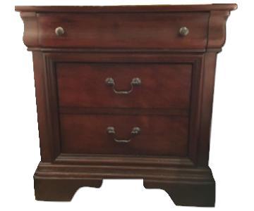 Macy's Solid Wood Mahogany Nightstand
