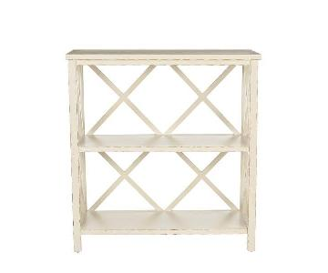 Safavieh Liam Cottage-Style Open Distressed Cream Bookcase