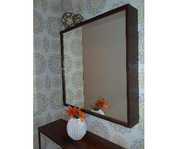 Mid Century Modern Wood Frame Mirror