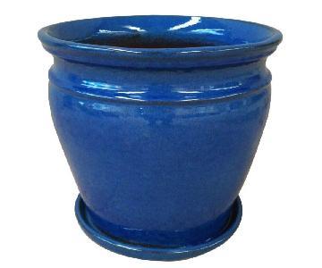 Trendspot Blue Ceramic Planter