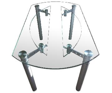 Expandable Glass Dining Table