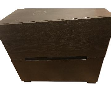 West Elm Espresso Finish Solid Wood File Cabinet
