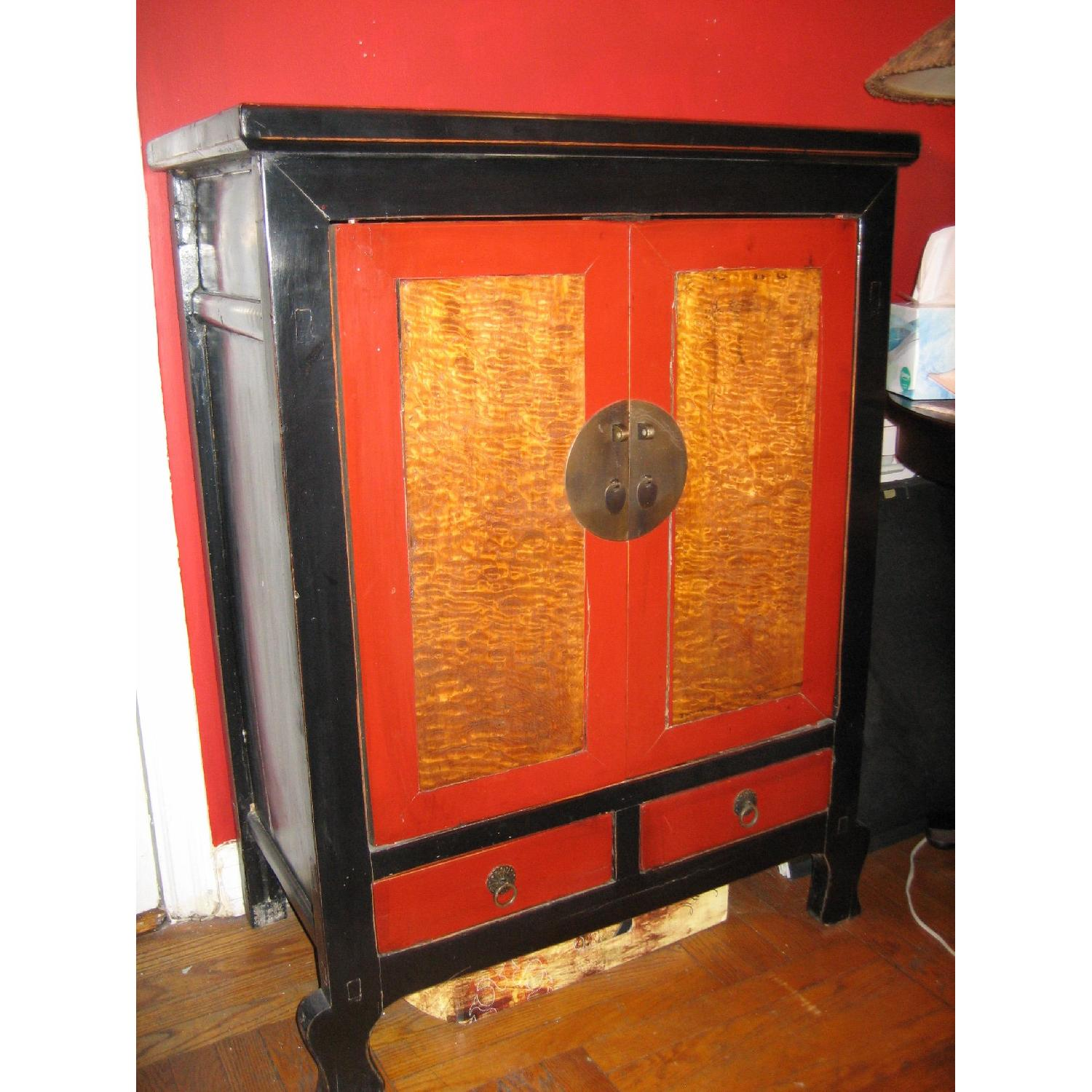 Anc Home Decor Black Red Asian Chest Aptdeco