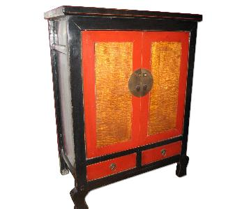 ANC Home Decor Black & Red Asian Chest