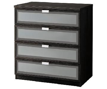 Ikea Hopen 4-Drawer Chest in Black-Brown