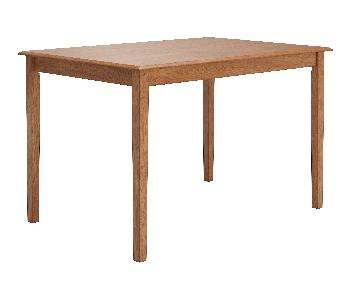 InspireQ Wilmington Dining Table in Oak Finish