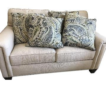 Paisley Pillow in Beige, Blue & Green