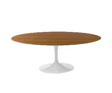 Maxwell Blake Saarinen Oval Wood Tulip Replica Dining Table