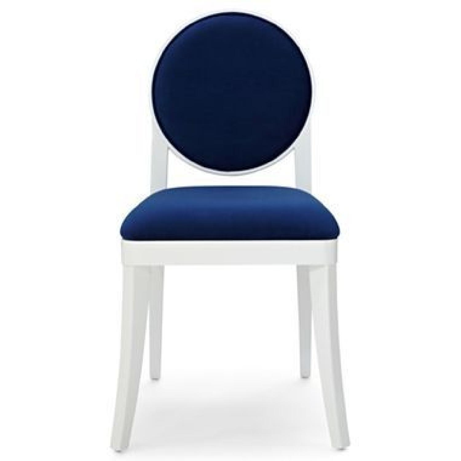 Jonathan Adler For JCP Happy Chic Navy Velveteen Side Chair ...