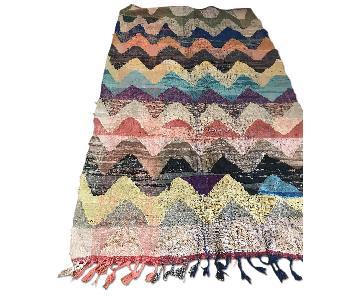 Anthropologie Moroccan Boucherouite Rug