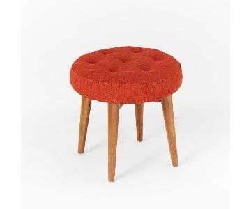 West Elm Mid Century Stool in Cayenne