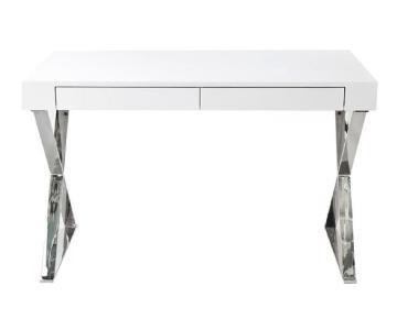 Pangea Home Mason Modern White Desk