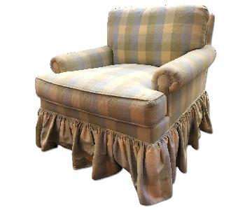 Custom Plaid Arm Chair