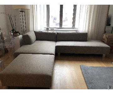 Room & Board Chelsea Sectional Sofa & Ottoman