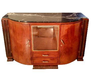 Vintage Buffet/Sideboard w/ Marble Top